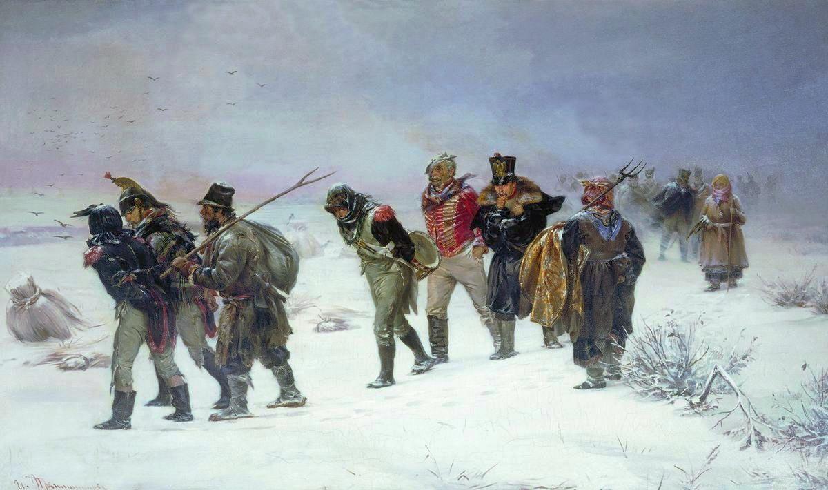 French_retreat_in_1812_by_Pryanishnikov-1