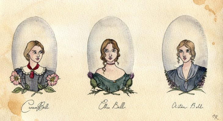 the_bronte_sisters_by_kitty_grimm-d8cz9wb